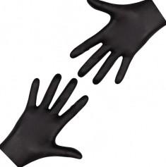 перчатки nitrimax нитриловые неопудренные черные xs 100шт ARCHDALE