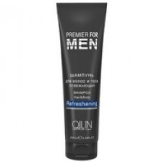 Ollin Premier For Men Shampoo Hair Body Refreshening - Шампунь для волос и тела освежающий, 1000 мл Ollin Professional (Россия)