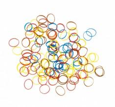 DEWAL PROFESSIONAL Резинки для волос силиконовые, цветные mix mini 100 шт/уп