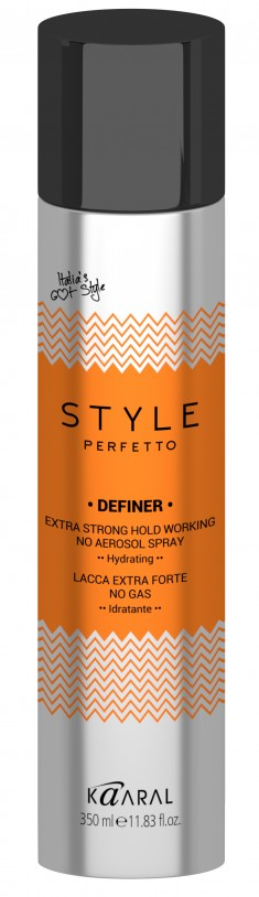 KAARAL Лак без газа экстра фиксации / STYLE Perfetto DEFINER EXTRA STRONG HOLD WORKING NO AEROSOL SPRAY 350 мл