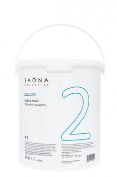 SAONA COSMETICS Паста сахарная очень мягкая для шугаринга № 2 / ICE Expert Line 3500 г
