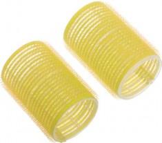 DEWAL BEAUTY Бигуди-липучки желтые, d 32x63 мм 10 шт