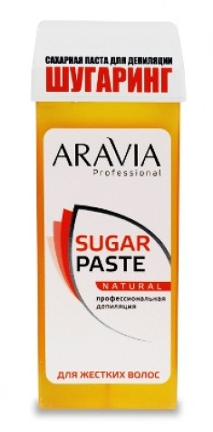 ARAVIA Паста сахарная мягкой консистенции для шугаринга Натуральная, в картридже 150 г (20)