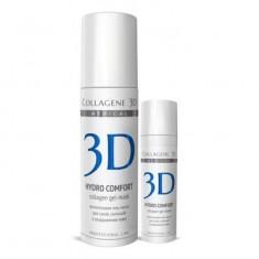 Коллаген 3Д Гель-маска для лица HYDRO COMFORT с аллантоином для раздраженной и сухой кожи 130 мл Collagene 3D