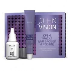 Ollin Professional VISION SET graphite Крем-краска для бровей и ресниц 20мл