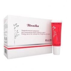 Оллин/Ollin Professional BioNika Энергетическая сыворотка для окрашенных волос Яркость цвета 10х15мл
