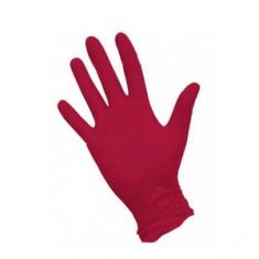 Перчатки нитриловые, красные, М, 100 шт. (Чистовье) ЧИСТОВЬЕ