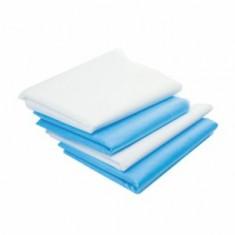 Коврик из SMS, белый/голубой, 100 шт., 40*50 см (Чистовье) ЧИСТОВЬЕ