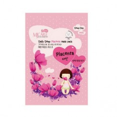 Маска с плацентой тканевая, 25 г (Mijin)
