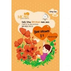 маска тканевая с пчелиным ядом mijin mj care daily dewy bee venom mask pack