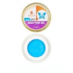 FOX, Гель-пластилин Sculpture Gel №11, голубой F.O.X