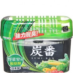 Дезодорант-поглотитель неприятных запахов для овощного отделения холодильника с древесным углем KOKUBO