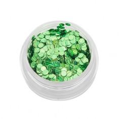 TNL, Пайетки для ногтей «Кошачий глаз» - зеленые №2 TNL Professional