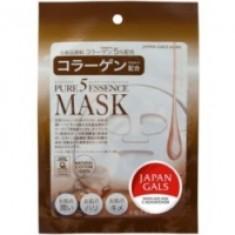 Japan Gals Pure5 Essential - Маска с коллагеном, 1 шт.
