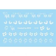 BPW.Style, Слайдер-дизайн «Белые бабочки» №3-13