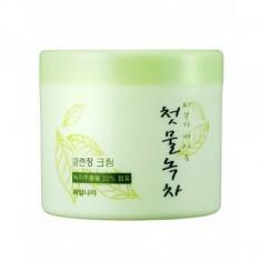 крем очищающий welcos green tea fresh cleansing cream