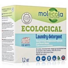 MOLECOLA Стиральный порошок для белого белья с растительными энзимами 1,2кг