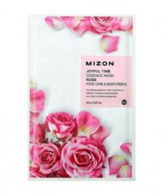 Тканевая маска с лепестками розы MIZON Joyful Time Essence Mask Rose