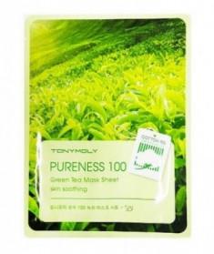 Маска для лица с зеленым чаем TONY MOLY Pureness 100 green tea mask sheet 21 мл