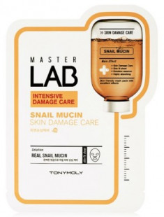 Маска для лица TONY MOLY Master Lab snail mucin mask sheet 19 г