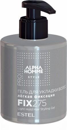 ESTEL PROFESSIONAL Гель легкой фиксации для укладки волос, для мужчин / ALPHA HOMME PRO 275 мл