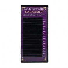 NAGARAKU, Ресницы на ленте Natural Mink, 11/0,10 мм, D-изгиб