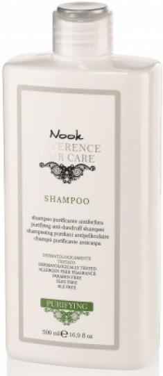Шампунь специальный для кожи головы, склонной к перхоти NOOK Difference Hair Care Shampoo Purificante Antiforfora Ph5,5 500 мл