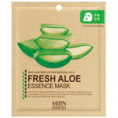 Маска для лица тканевая алое Mijin FRESH ALOE ESSENCE MASK 25г