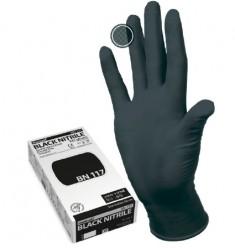перчатки manual bn117 нестерильные нитриловые черные (6 -1/2 s)