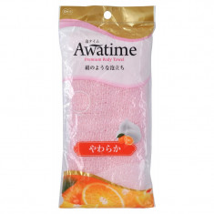 мочалка для тела мягкая ohe corporation awa time body towel soft