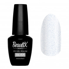 BEAUTIX Покрытие финишное для ногтей / Silver 15 мл