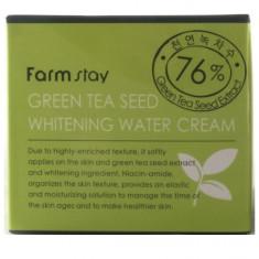 FarmStay Увлажняющий осветляющий крем с семенами зеленого чая 100мл Farm Stay