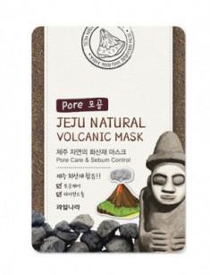 Маска для лица очищающая поры Jeju Natural Volcanic Mask Pore Care & Sebum Control 20мл WELCOS