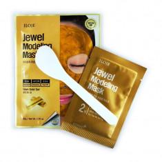 моделирующая маска для лица с частицами золота konad jewel modeling mask glam gold