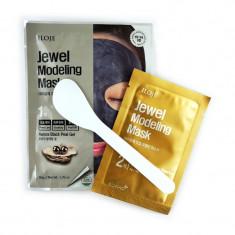 моделирующая маска для лица с черным жемчугом konad jewel modeling mask aurora black pearl