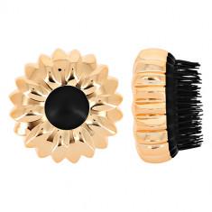 Расческа для волос LADY PINK массажная золотая