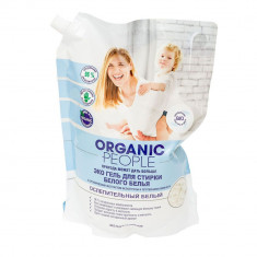Organic people ЭКО Гель для стирки белого белья 2л