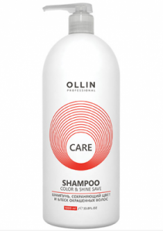 Шампунь для окрашенных волос OLLIN CARE Color&Shine Save Shampoo 1000мл