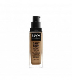 NYX PROFESSIONAL MAKEUP Тональная основа Can't Stop Won't Stop Full Coverage Foundation - Cinnamon 155