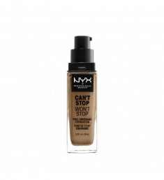 NYX PROFESSIONAL MAKEUP Тональная основа Can't Stop Won't Stop Full Coverage Foundation Caramel 24