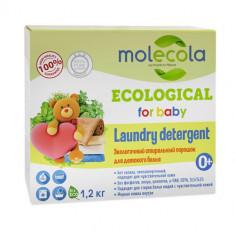 Molecola порошок стиральный для стирки детского белого и цветного белья 1,2кг
