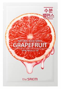 Маска тканевая с экстрактом грейпфрута THE SAEM Natural Grapefruit Mask Sheet 21мл