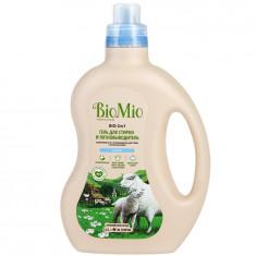 BIOMIO Bio-2in1 Экологичный гель и пятновыводитель для стирки белья 1500мл