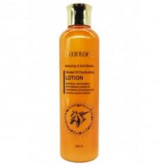 лосьон для лица с лошадиным жиром deoproce whitening & anti-wrinkle horse oil hyalurone lotion