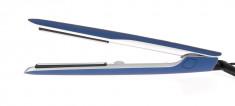 DEWAL PROFESSIONAL Щипцы для выпрямления волос Exception синие, с терморегулятором, титаново-турмалиновое покрытие, 23 х 87 мм, 40 Вт
