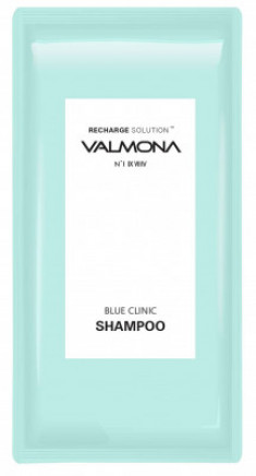 Набор для волос: Шампунь УВЛАЖНЕНИЕ EVAS VALMONA Recharge Solution Blue Clinic Shampoo, 10мл*50 шт