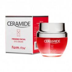 укрепляющий крем для области вокруг глаз с керамидами farmstay ceramide firming facial eye cream