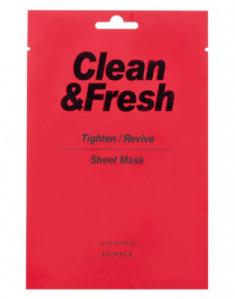 Тканевая маска для сужения пор EUNYUL CLEAN & FRESH TIGHTEN-REVIVE SHEET MASK 22мл