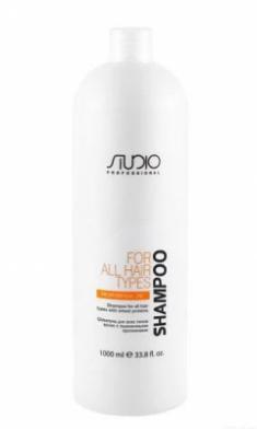 Шампунь для всех типов волос с пшеничными протеинами Kapous Studio Shampoo With Wheat Proteins 1000 мл