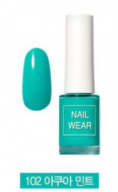 Лак для ногтей THE SAEM Nail wear 102. Aqua Mint